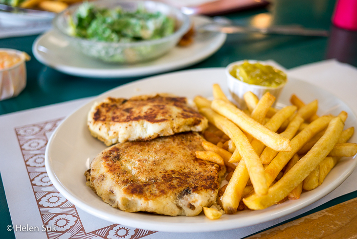 fish cakes and fries at east side family restaurant new glasgow