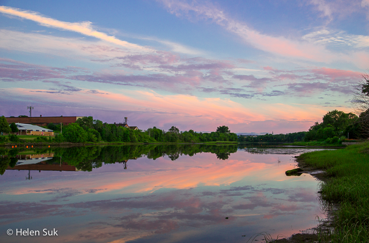 sunset over east river in new glasgow nova scotia