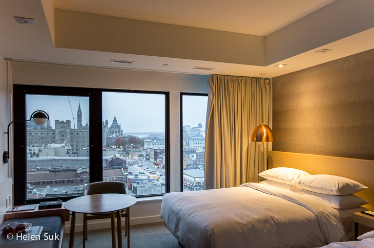 guest room at the andaz byward market ottawa