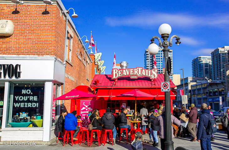 red beavertails stall in byward market