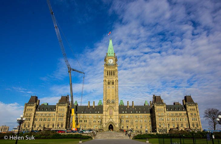 centre block of the canadian parliament buildings
