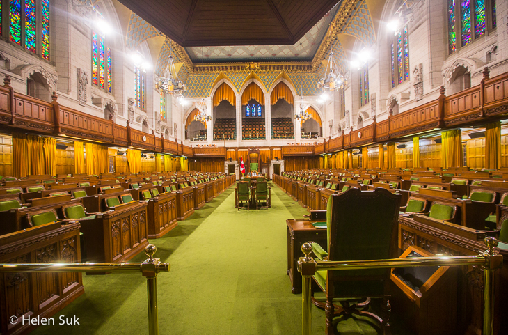 house of commons inside the canadian parliament buildings