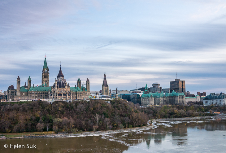 view of the parliament buildings from nepean point